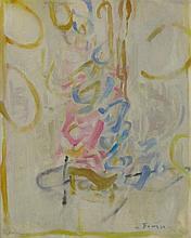 Ephraim Roeytenberg Fima 1916-2005 (Israeli) Japanese abstract oil on canvas