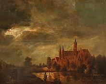 **Dutch School 19th-20th century Landscape oil on panel
