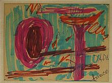 Marcel Janco 1895-1984 (Israeli) Abstract composition felt pen on paper