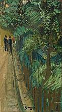 **Alphonse L?on Quizet 1885-1955 (French) La promenade oil on canvas