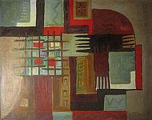 Pinchas Abramovich 1909-1986 (Israeli) Abstract composition, 1970 oil on canvas