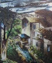 **L?on Schwarz-Abrys 1905-1990 (French) Watermill in Provence oil on board