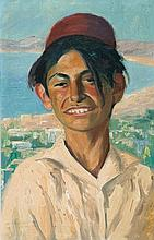 Hermann Struck 1876-1944 (Israeli) Portrait of a young boy, 1920's oil on canvas