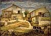Arieh Allweil 1901-1967 (Israeli) Courtyard in Shfeya, 1929 oil on canvas