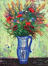 **Reuven Rubin 1893-1974 (Israeli) Field flowers, 1952 oil on canvas