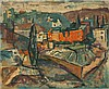 Yaacov Eisenscher 1896-1980 (Israeli) Jerusalem landscape oil on canvas