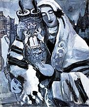 Touvia Besanson b.1980 (French, Israeli) Simchat Torah oil on canvas