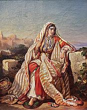 **Auguste Delacroix 1809-1868 (French) Jewish woman in traditional clothing, 1834 oil on canvas