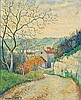 **Georges Manzana-Pissarro 1871-1961 (French) Chemin א l'orיe du village, 1950 oil on masonite