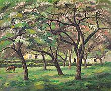 **Paul-Emile Pissarro 1884-1972 (French) Clos Normand au printemps, 1930 oil on canvas