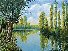 **Paul-Emile Pissarro 1884-1972 (French) L'orne א l'automne oil on canvas