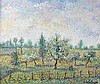 **Hughes Claude Pissarro b.1935 (French) Le grand poirier du Grand Sinard oil on canvas