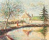 **Hughes Claude Pissarro b.1935 (French) Ancien moulin, Feraod oil on canvas