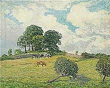 **Maxime Maufra 1861-1918 (French) Les nuages blancs, Rosperden, 1900 oil on canvas