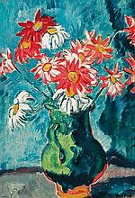 **Louis Valtat 1869-1952 (French) Cruche verte aux marguerites oil on canvas