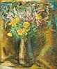 Yaacov Eisenscher 1896-1980 (Israeli) Flowers oil on board