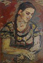 Menachem Shemi 1897-1951 (Israeli) Rivka Shemi, 1938 oil on cardboard