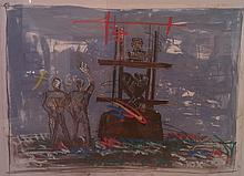 Igael Tumarkin b.1933 (Israeli) Untitled, 1995 mixed media on paper