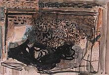 **Joseph Zaritsky 1891-1985 (Israeli) Still life with flowers, 1942 watercolor on paper