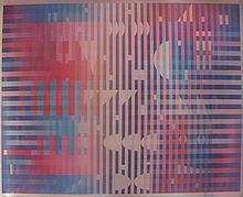 Yaacov Agam b.1928 (Israeli) Geometric fantasy agamograph