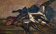Michel Adlen 1898-1980 (Ukrainian) Duck oil on canvas