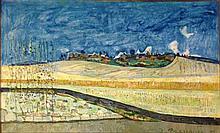 **Joseph Pressmane 1904-1967 (French) Landscape, 1959 oil on canvas