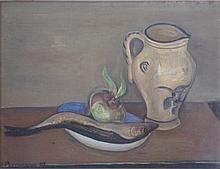 Joseph Pressmane 1904-1967 (French) Nature morte, 1949 oil on canvasboard