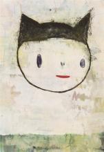 **Yoshimoto Nara b.1959 (Japanese) Untitled, 1991 acrylic on paper