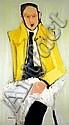 Michael Gross 1920-2004 (Israeli) So what?, 1953 oil on plywood, Michael Gross, Click for value