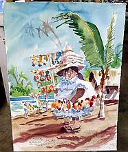 JOHN WADDINGHAM FIVE WATERCOLORS