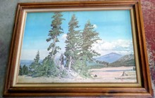 RAY EYERLY VINTAGE LITHOGRAPH