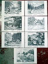 SEVEN ARTHUR SELANDER GREETING CARDS