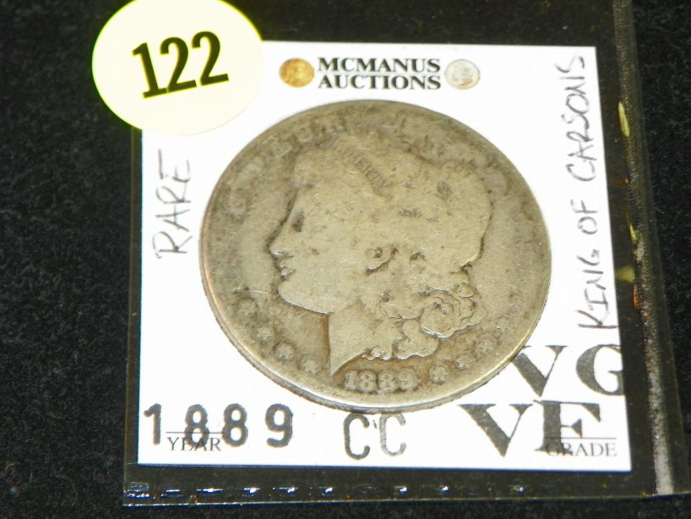 "SIGNATURE SERIES 1889-CC MORGAN SILVER DOLLAR - ""KING OF CARSON'S"" VERY RARE!"