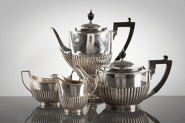 SILVER COMPOSITE FOUR PIECE TEA SERVICE