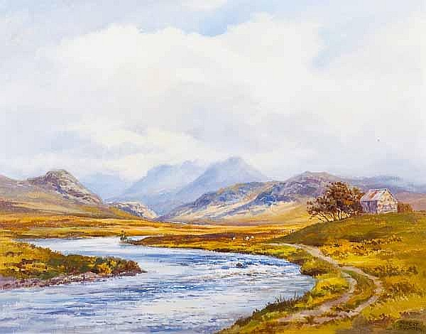 * ROBERT EGGINTON River Grunard oil on canvas,