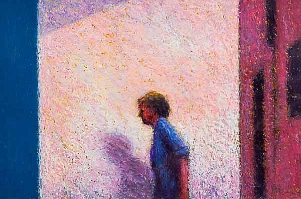 * PHILIP ARCHER Passing Figure oil, signed 13.5cm