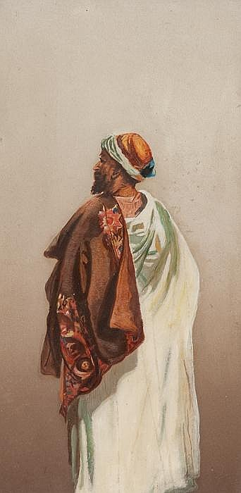 BRITISH SCHOOL (EARLY 20TH CENTURY)  - PORTRAIT OF AN ARAB GENTLEMAN