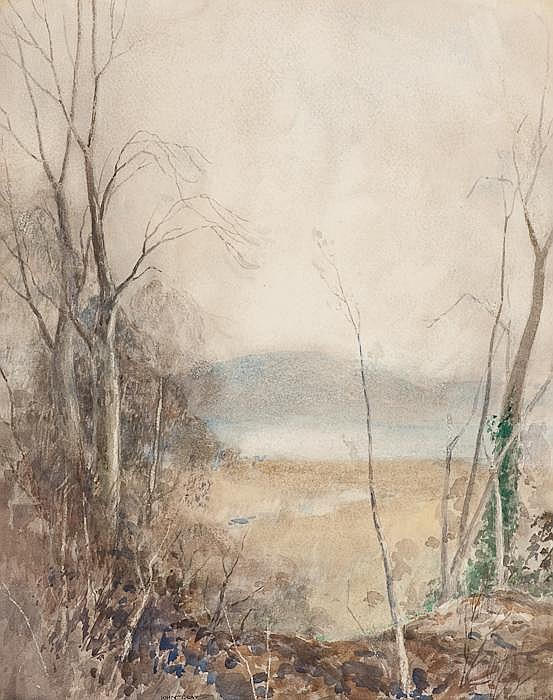 JOHN GRAY PRSW  - MORNING AT THE LOCH SIDE