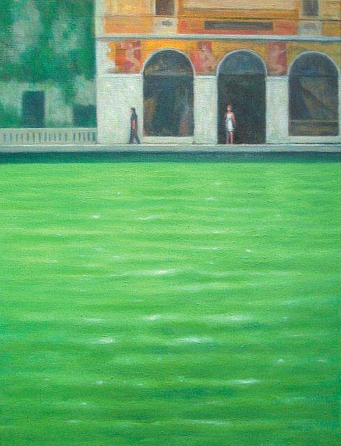 Philip Archer Salviati oil on canvas 23 1/2in x 17