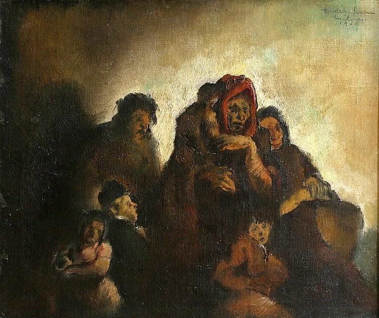 ERDELYI Ferencz (1904 Budapest - 1959) Beggars Oil