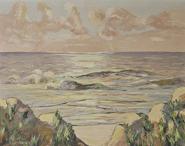 Gustav Haas (1889-1953). Küstenlandschaft. Öl/Lw.,