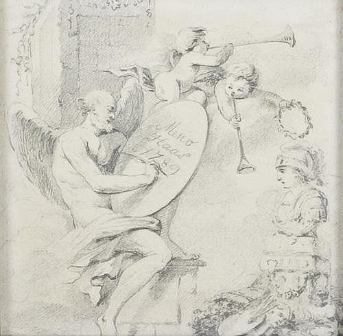Peter Haas 1754-1804 Männliche Genie und Putten,