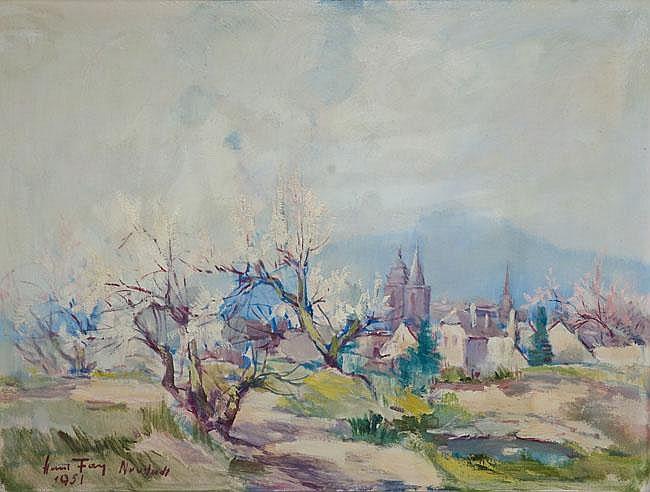 Hanns Fay (1888-1957). Ansicht von Neustadt/Pfalz