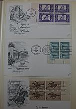 Album Containing 77 U.S. Plate Blocks First Day Co