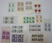 25 Higher Value U.S. Plate Blocks 1957-71 All Diff
