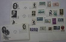 50 First Day Covers, 1962-73, Unaddressed, All Dif