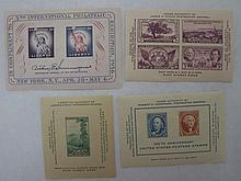 4 U.S. Souvenir Sheets, #778, 797, 948 &1075