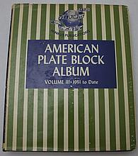 American Plate Block Album (VOL III) 1951-1969