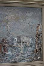 Impressionist Painting of Venice sg W. Knight