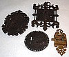 18/19thC Ornate Hand Forged Cabinet Mortise Locks